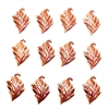 brass leaves, leaf stampings, jewelry supplies, rox, 02031, leaves