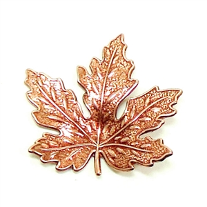 brass leaves, jewelry making, rosy copper, 02033, B'sue Boutiques, nickel free jewelry supplies, US made jewelry supplies, vintage jewellery supplies, altered art jewelry, antique copper, 31mm