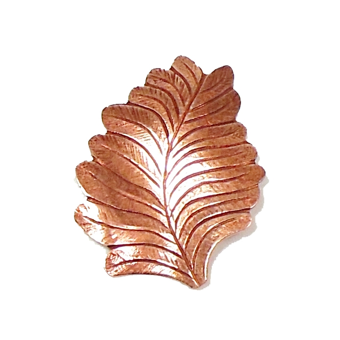Leaf Stamping, Left Facing, Rose Ox, Made in the USA, 27 x 21mm