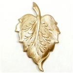 brass leaves, leaf stampings, raw brass, 02127, B'sue Boutiques, nickel free, US Made, jewelry making, jewelry supplies, leaf finding, vintage jewelry supplies, brass stampings,