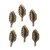 brass leaves, leaf stems, rusted iron  brass, 02192, vintage jewelry supplies, jewelry making supplies, accent leaves, leaf stampings, antique copper,