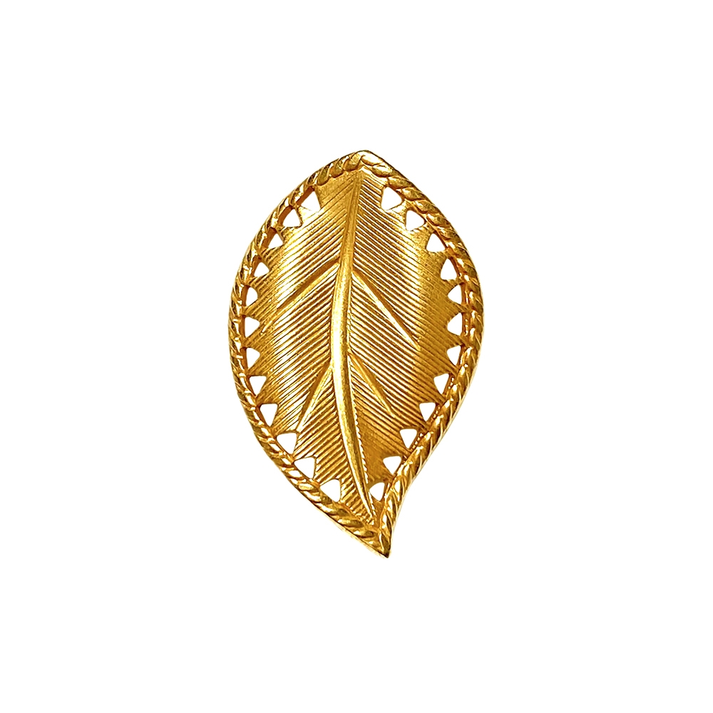brass leaves, right-facing beading leaf, jewelry supplies, 29x18mm, classic gold, vintage supplies, jewelry making, jewelry supplies, US-made, nickel-free, B'sue Boutiques, antique gold, curved leaves, leaf, right-facing leaf, 02274