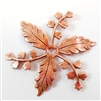 brass flowers, brass leaves, drilled leaves, 02874, vintage jewellery supplies, jewelry making supplies, B'sue Boutiques, US made jewelry supplies, nickel free jewelry supplies, leaf jewelry supplies, rosy copper,  antique copper