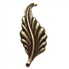 leaf stamping, brass ox, right facing, curved, brass, curved leaf, curved style, antique brass, leaf, 31mm, right, brass stamping, us made, nickel free, B'sue Boutiques, jewelry making, jewelry supplies, vintage supplies, jewelry findings, 02889