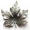 maple leaf stamping, maple leaf, silverware silverplate, silverware, silverplate, antique silver, maple, leaf, brass stampings, leaves, 41x41mm, silver, brass, us made, nickel free, B'sue Boutiques, vintage supplies, jewelry supplies, jewelry making,02897