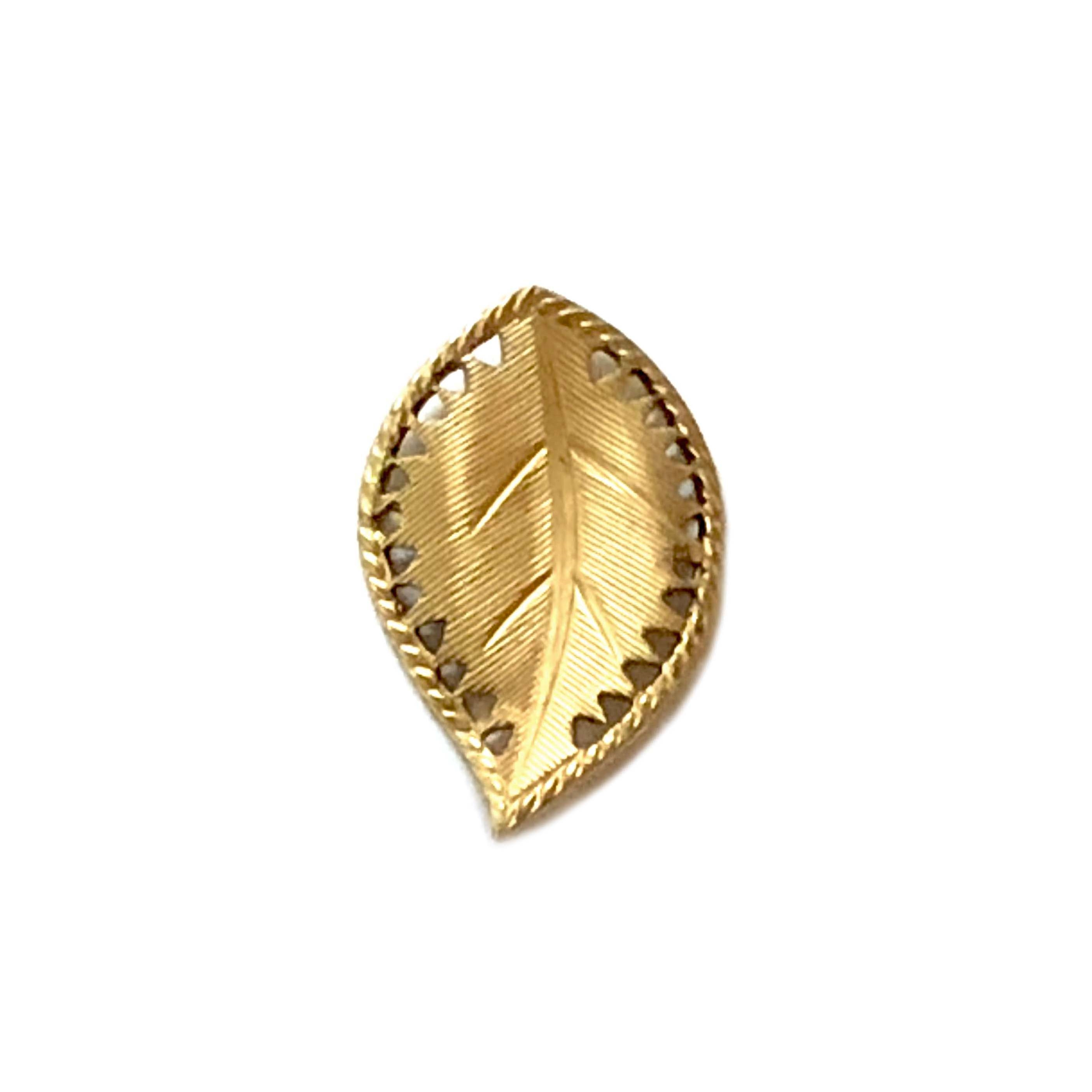 brass leaves, left facing beading leaf, jewelry supplies, 29mm, raw brass, vintage supplies, jewelry making, jewelry supplies, brass jewelry parts, US made, nickel free, B'sue Boutiques, antique brass, curved leaves, leaf, left facing leaf, 03294