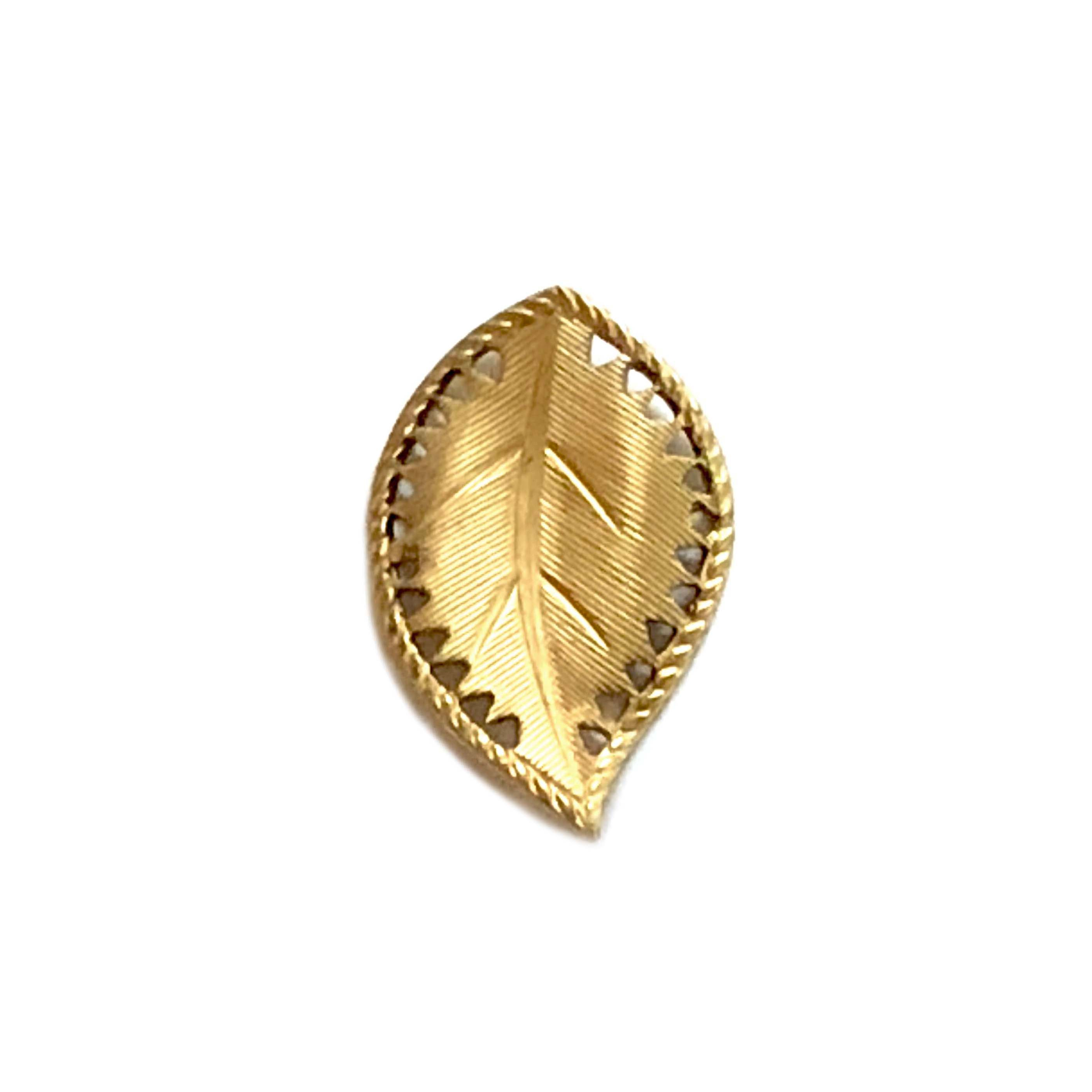 brass leaves, beading leaf, jewelry supplies, 29mm, 03394, nickel free, US made, bsueboutiques, leaf stampings, pierced leaves, beading leaves, curved leaves, right facing leaves, patterned leaves, vintage jewelry supplies