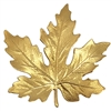brass leaves, jewelry making, raw brass, B'sue Boutiques, nickel free, jewelry supplies, US made, vintage supplies, altered art jewelry, antique brass, 55mm, medium maple leaf, leaf, maple leaf, unplated brass, brass stampings, leaf stamping, 03949
