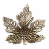 brass leaves, jewelry making, brass ox, 03951, B'sue Boutiques, nickel free jewelry supplies, US made jewelry supplies, vintage jewellery supplies, altered art jewelry, maple leaves, antique brass, 41mm