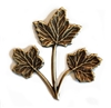 maple leaves, triple stem leaves, antique brass, brass ox, 32x31mm, B'sue Boutiques, nickel free, jewelry supplies, us made, vintage supplies, leaf findings, jewelry making, jewelry findings, leaf, maple, leaf sprig, brass, stamping, stem, 04482