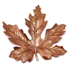 brass leaves, jewelry making, old rose ox, 04855, B'sue Boutiques, nickel free jewelry supplies, US made jewelry supplies, vintage jewellery supplies, altered art jewelry, antique copper, 65mm