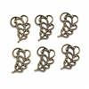 filigree leaves, brass ox, 04926, leaf, set of 6 pieces, design embellishments, assemblage, brass stampings, leaf stampings, antique brass, brass leaves, B'sue Boutiques, jewelry supplies