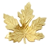 maple leaf stamping, maple leaf, classic gold, antique gold, maple, leaf, brass stampings, leaves, 41x41mm, gold, brass, us made, nickel free, B'sue Boutiques, vintage supplies, jewelry supplies, jewelry making,05006