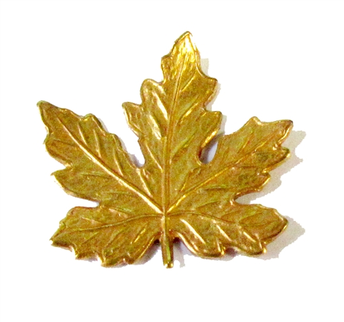 maple leaf stamping, maple leaf, classic gold, antique gold, maple, leaf, brass stampings, leaves, 21x21mm, gold, brass, us made, nickel free, B'sue Boutiques, vintage supplies, jewelry supplies, jewelry making,05024