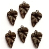 brass leaves, leaf charms, rusty black, 05158, vintage jewelry supplies, antique copper, jewelry making, brass jewelry parts, leaf accents