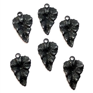 brass leaves, leaf charms, matte black, 05205, vintage jewelry supplies, antique black, jewelry making, brass jewelry parts, leaf accents, US made, nickel free,Bsue Boutiques
