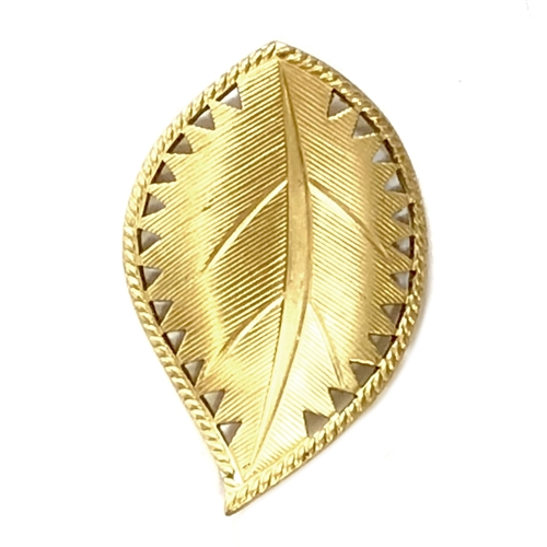 brass leaves, beading leaf, jewelry supplies, 41x26mm, raw brass, vintage jewelry supplies, jewelry making supplies, brass jewelry parts, US made, nickel free jewelry supplies, bsueboutiques, antique brass, curved leaves, 05799