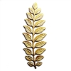 brass leaves, leaf stampings, raw brass, 04563, B'sue Boutiques, nickel free, US Made, jewelry findings, jewelry supplies, leaf findings, jewelry making, brass jewelry parts, vintage jewelry supplies, 19 petal leaf frond