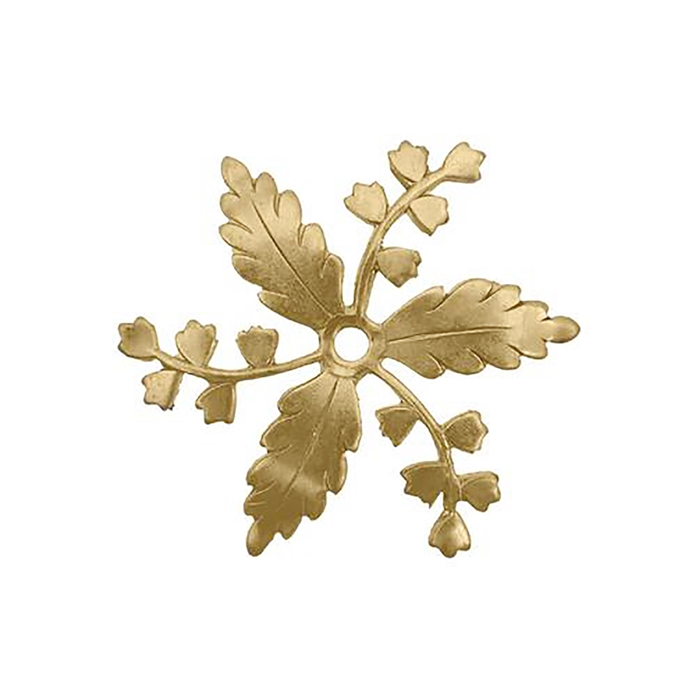floral flower pinwheel, raw brass, leaves, caging leaves, jewelry making, raw brass jewelry, B'sue Boutiques, nickel free, US made, brass jewelry, drilled leaves, beading leaves, vintage supplies, jewelry making, pinwheel, jewelry supplies, 34mm, 06262