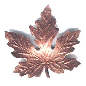 brass leaves, jewelry making, rosy copper, 06329, B'sue Boutiques, nickel free jewelry supplies, US made jewelry supplies, vintage jewellery supplies, altered art jewelry, maple leaves, antique copper, 41mm