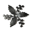 floral pinwheel sprig, matte black, ebony brass, brass leaves, caging leaves, jewelry making, matte black brass, pinwheel sprig, floral, sprig, B'sue Boutiques, nickel free, US made, beading supplies, drilled leaves, beading leaves, vintage supplies,06459