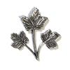 maple leaves, triple stem leaves, silverware silverplate, 07664, B'sue Boutiques, nickel free jewelry supplies, US made jewelry supplies, vintage jewellery supplies, leaf findings, leaves, leaf, triple leaf