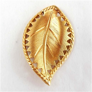 brass leaves, caging leaves, jewelry making, 07832, Russian gold plate, gold plate finish, jewelry supplies, right facing leaves, vintage jewelry supplies, brass jewelry parts,beading leaves