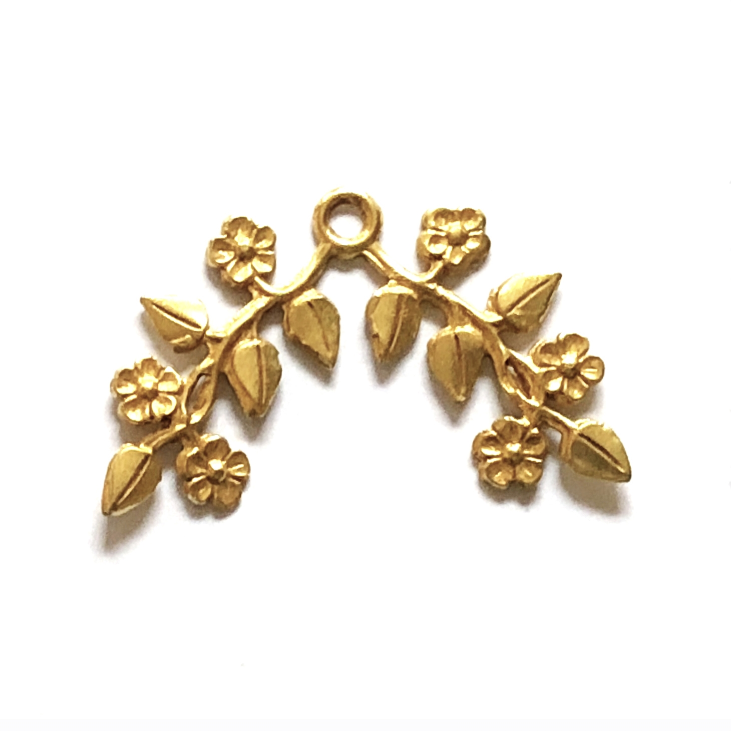 brass leaves, brass flowers, jewelry making, 08864, Brass ox, jewelry supplies, brass jewelry parts, vintage supplies, vintage jewelry, US made, nickel free, B'sue Boutiques, center drilled, beading leaves