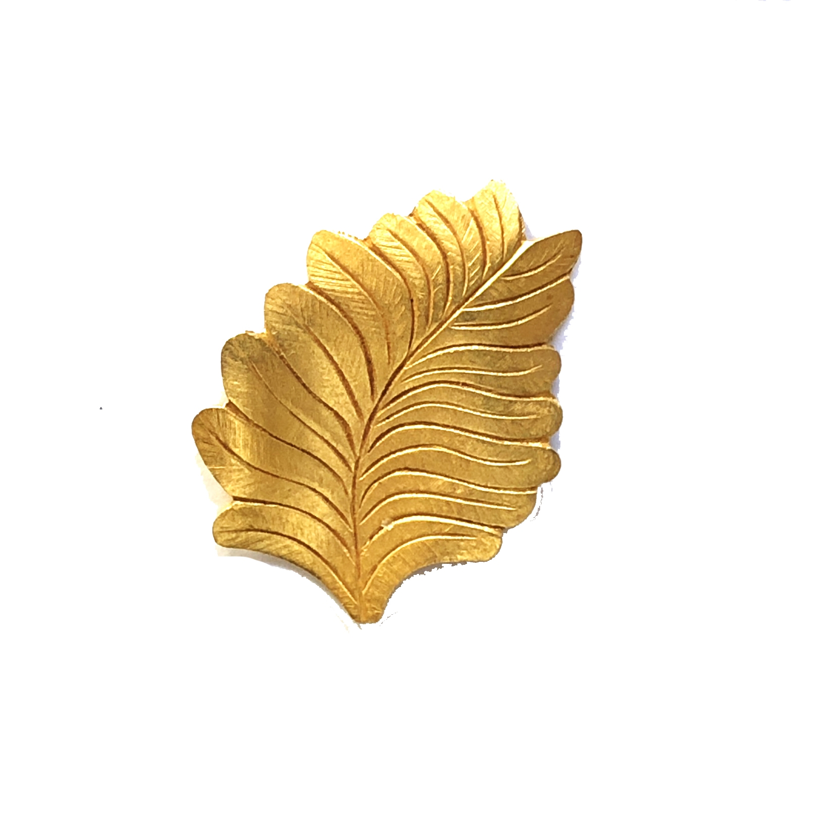 vintage style leaf stamping, double sided, leaf, stamping, classic gold, cinnamon accents, antique gold, brass, US made, 27x21mm, vintage style, brass stamping, jewelry making, vintage supplies, jewelry supplies, B'sue Boutiques, 08489