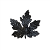 brass leaves, maple leaves, jewelry supplies, 41mm, 08524, B'sue Boutiques, US Made jewelry supplies, jewelry making supplies, nickel free jewelry supplies, vintage jewellery supplies, matte black, antique black