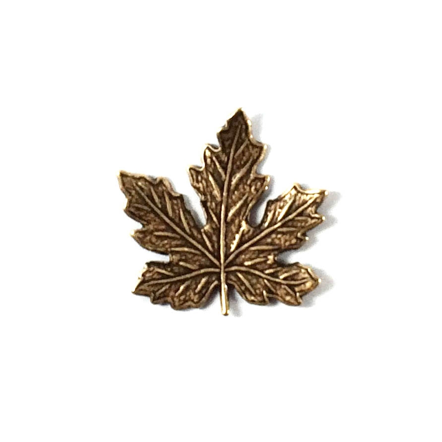 brass leaves, maple leaves, jewelry supplies,08869, 21mm, B'sue Boutiques, US Made jewelry supplies, jewelry making supplies, nickel free jewelry supplies, vintage jewellery supplies, brass ox, antique brass
