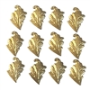 brass leaves, leaf stampings, jewelry supplies, left facing, raw brass, 09280, B'sue Boutiques, US made jewelry supplies, vintage jewellery supplies, nickel free jewelry supplies, antique brass, leaf accents