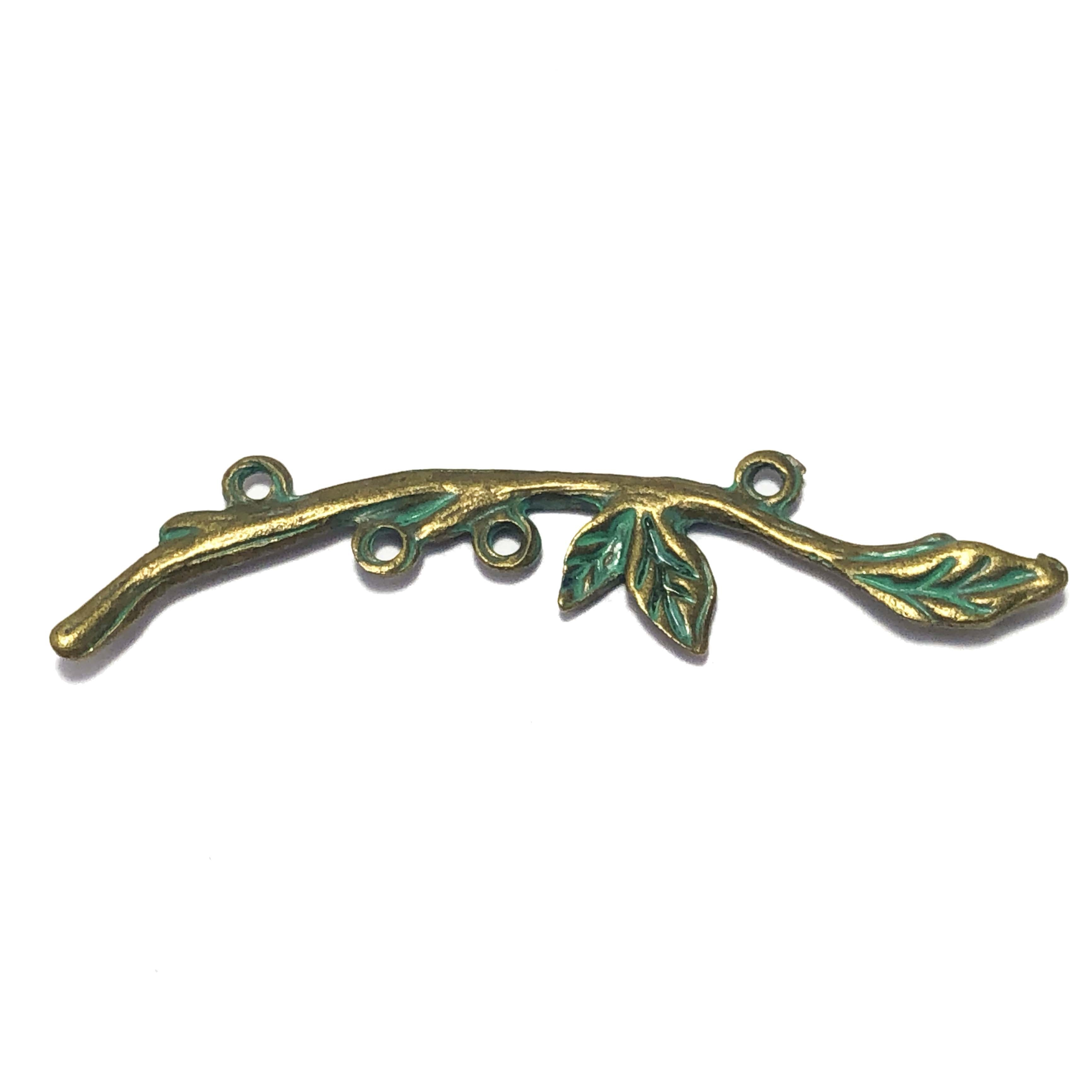 tree branch, altered art, branch, antique bronze, green patina, toggle, brass stamping, brass, twig, B'sue Boutiques, nickel free, B'sue Boutiques,  vintage supplies, jewelry making, jewelry supplies, jewelry findings, 09577