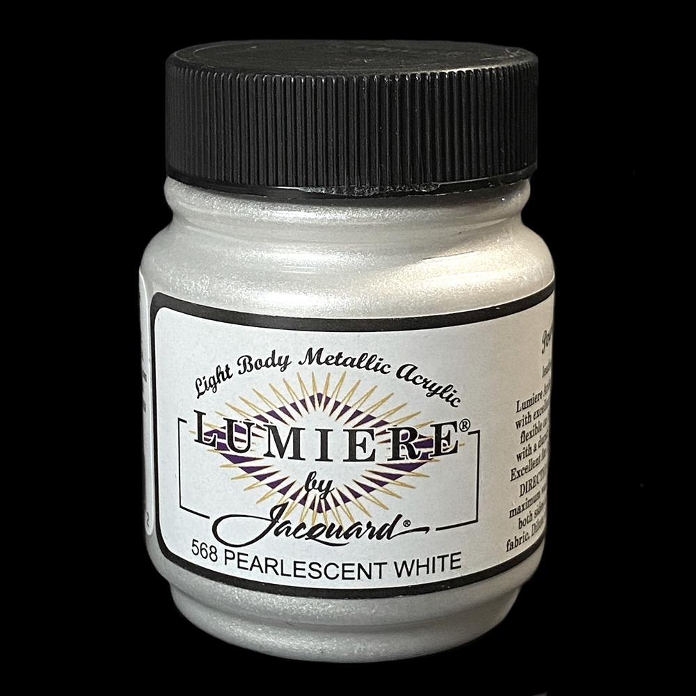 Lumiere acrylic paint, metallic paint, craft paint, jewelry making supplies, paint supplies, metal painting, US made paint supplies, acrylic paint, metal paint, pearlescent white paint, Lumiere paint, pearlescent paint, weather resistant, 02772