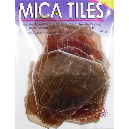 mica tiles, altered art, mixed media