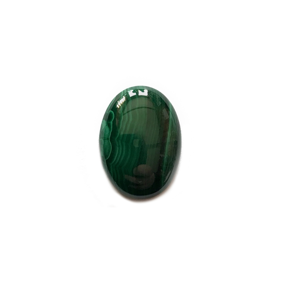 malachite stone, semi precious stone, green, white, focal stone, 18x13mm, cabochon, natural stone, semi stone, gemstone, oval, malachite, green malachite, malachite green, glossy shine, stone, us made, B'sue Boutiques, jewelry stone, mssp140
