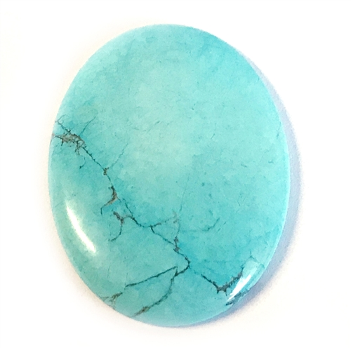 semi precious stones, turquoise, Chinese turquoise focal stone, 40x30mm, stone cabochon, cabochon stone, natural stone, dyed howlite, turquoise blue, black matrix stone, semi precious cabochon, cab stone, B'sue Boutiques, cabochon, jewelry making, mssp214