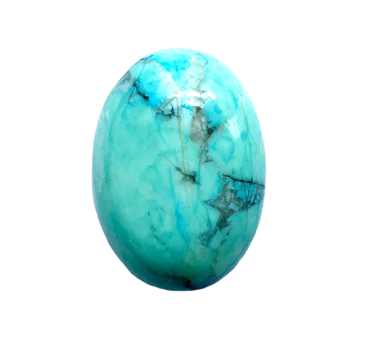 precious stones, turquoise, Chinese turquoise focal stone, 25x18mm ...