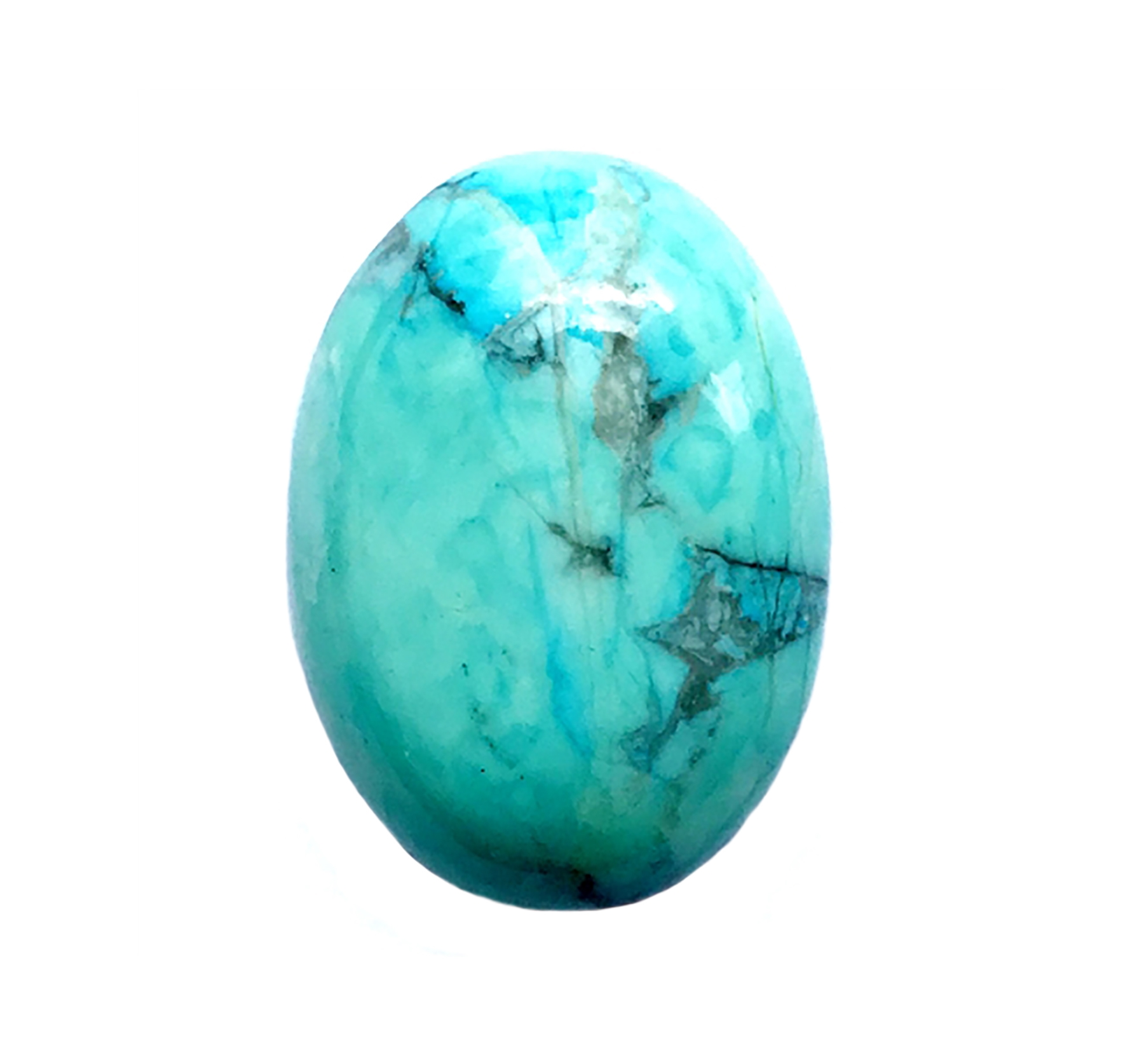 semi precious stones, turquoise, Chinese turquoise focal stone, 25x18mm stone cabochon, cabochon stone, natural stone, dyed howlite, turquoise blue, black matrix stone, semi precious cabochon, 25x18mm, cab stone, B'sue Boutiques,cabochon, mssp219