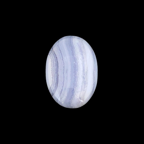 blue lace agate stone, semi precious stone, blue lace, agate, pale blue, focal stone, 25x18mm, cabochon, natural stone, pale sky blue, white bands, semi stone, transparent, oval, polished, oval, stone, us made, B'sue Boutiques, jewelry stone, 035