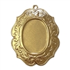 victorian style mount, 22K satin gold, gold brass, pendant, bezel, mount, 25x18mm mount, victorian mount, brass, stamping, mount jewelry, victorian, mount stamping, US made, nickel free, B'sue Boutiques, jewelry findings, jewelry supplies, making, 02603