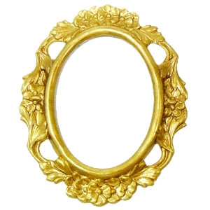 Backless bezel, 40x30, mount, 02622, raw brass, unplated brass, brass mount, backless mount, floral, floral mount, floral bezel, jewelry supplies, B'sue Boutiques, cameo setting