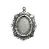 brass bezels, cameo mounts, silver plate, 03299, B'sue Boutiques, nickel free jewelry supplies, vintage jewellery supplies, jewelry making supplies, antique silver, jewelry findings, brass pendants