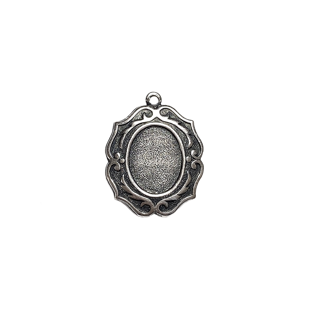 smallest victorian cameo mount, antique silver, mount, pendent, cameo mount, brass, silverware silver, victorian style, victorian, 10x8mm, B'sue Boutiques, nickel free, us made, jewelry findings, vintage supplies, jewelry supplies, jewelry making, 04617