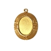 floral mount, classic gold plated, brass, brass stamping, mount, cameo mount, pendant mount, floral, gold, gold plated, classic gold, 18x13mm, jewelry making, vintage supplies, B'sue Boutiques, pendant, jewelry findings, mount jewelry, vintage, 04996