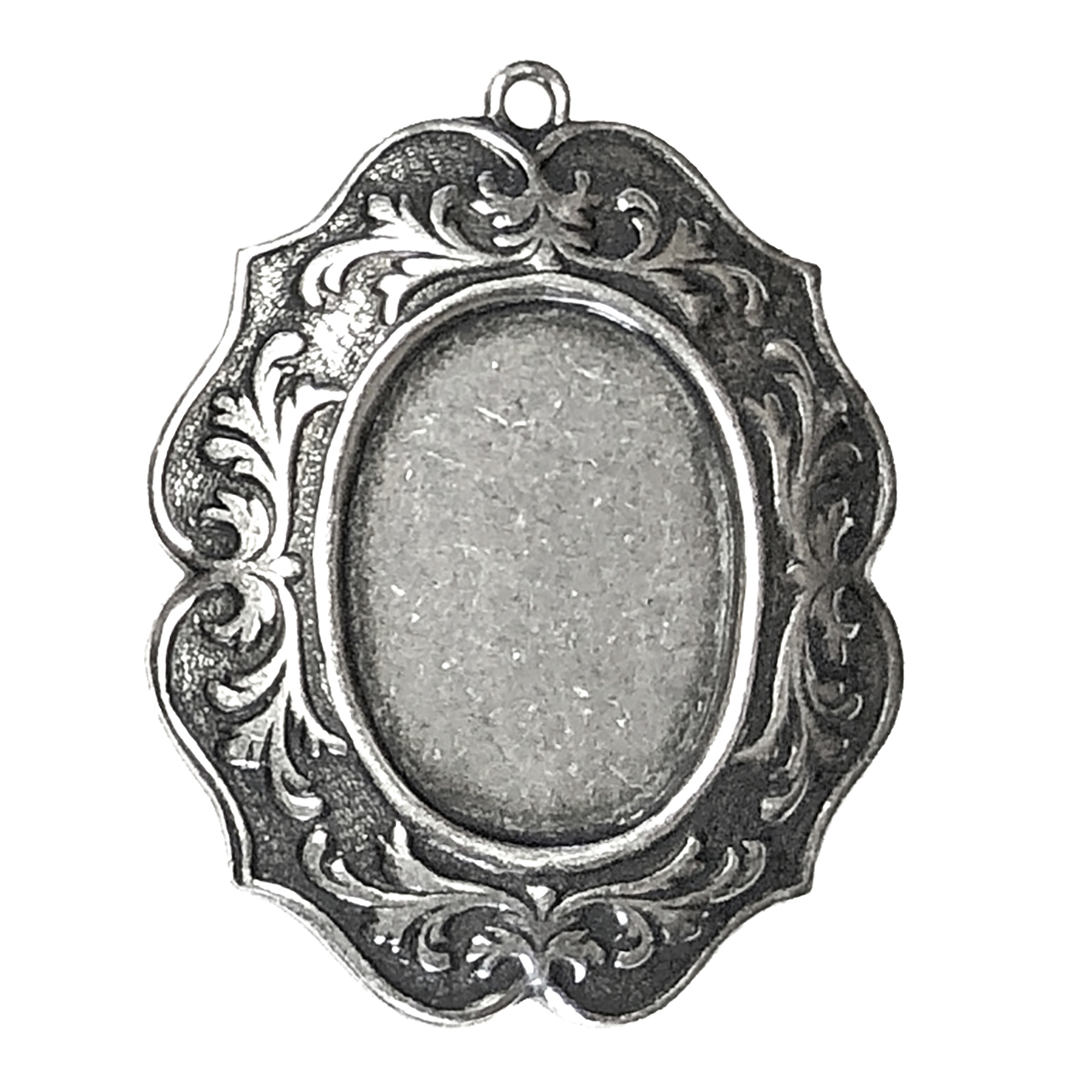brass mount, cameo mount, silverplate, 06458, Victorian mount, B'sue Boutiques, US made jewelry supplies, vintage jewellery supplies, jewelry making supplies, silverware silverplate, antique silver, stone mount