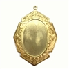 Pendant Style Mount, Raw Unplated Brass, 06904, Bezel, Leaf Design, leafy motif, 39 x 28mm, resin, ceralun, epoxy, mount, brass stamping, brass pendant, pendant, jewelry supplies, jewelry making, Bsue Boutiques