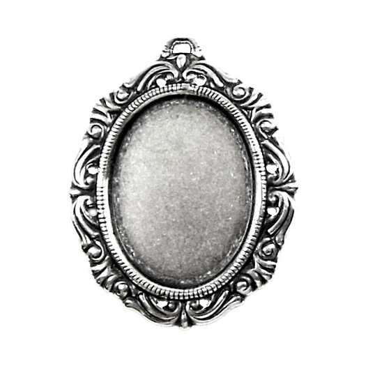 victorian style, mount, antique silver, victorian, victorian mount, silverware, silver, brass stamping, silverplate, 25x18mm, 38x30mm outside, victorian edging, mount jewelry, nickel free, b'sue boutiques, us made, jewelry making, vintage supplies, 09093