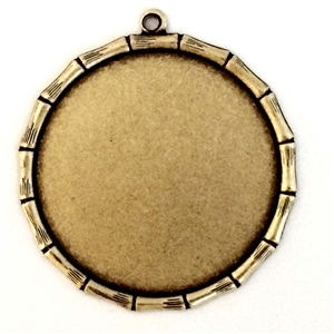 Brass Bezel, Bamboo Edge Mount, Brass Ox, 09404, antique brass, jewelry mount, bamboo edge bezel, vintage jewelry supplies, jewelry making supplies, brass jewelry parts, US made, nickel free, Bsue Boutiques