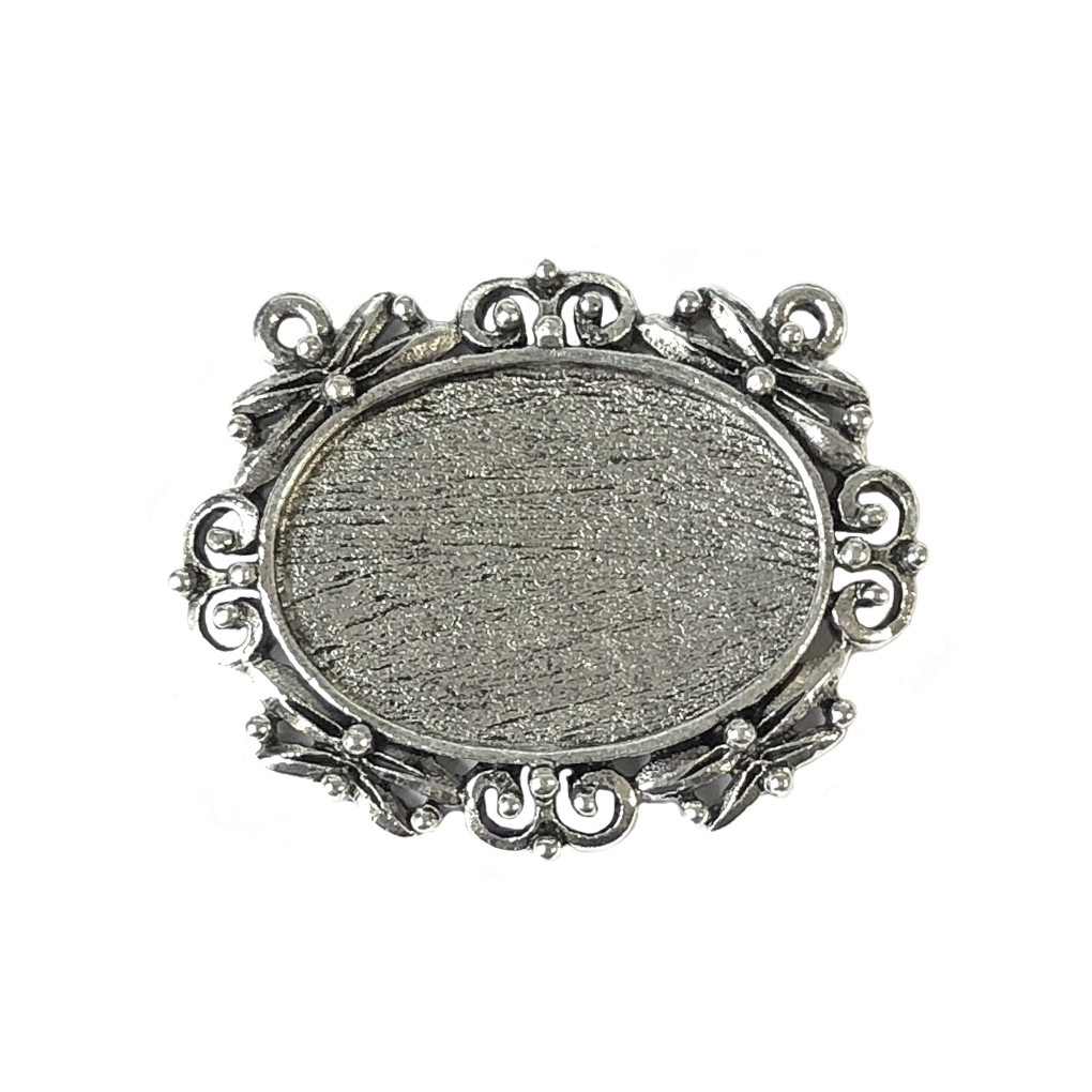 Old silver pewter nickel free double hole pendant lead free 1016 larger photo email a friend mozeypictures Gallery